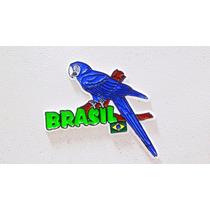 Imã Geladeira Emborrachado Arara Azul Brasil/ Souvenir