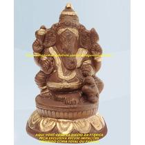 Escultura India Deusa Ganesha Linda Imagem 15cm Fabrica Ml