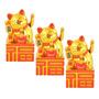 Kit Com 3 - Gato Da Sorte Dourado - Pp Maneki-neko