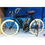 Miniatura Retro Vintage Bicicleta Antiga Motorizada