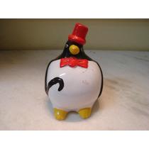 #469# Pinguim Gordo Porcelana Benga E Cartola!!!