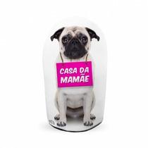 Peso De Porta Pug - Casa Da Mamãe - Peso De Papel - Eba