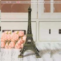 Miniatura Torre Eiffel Paris 13 Cm Metal Decoração Natal