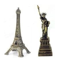 Torre Eiffel + Estatua Liberdade Miniaturas Presente