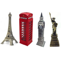 Kit Torre Eifel + Cab. Londres + Big Ben + Estatua Liberdade