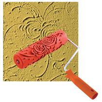 Rolo Decorativo Texturizado Para Massa Parede Rosas 418