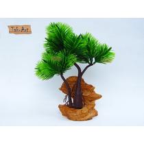 Árvore Bonsai Artificial 21cm Aquário E Enfeite Decorativo