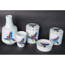 Kit De Porcelana Para Banheiro - Saboneteira, Moringa, Etc.