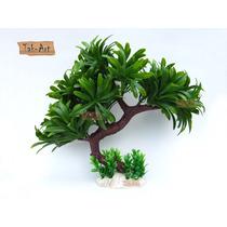 Árvore Bonsai Artificial 26cm Aquário E Enfeite Decorativo