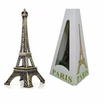 Miniatura Torre Eiffel Paris 18 Cm Metal Decoração