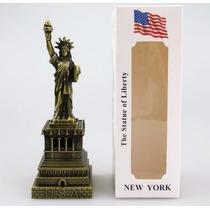 Decoração Sala Mesa Miniatura Estatua Da Liberdade New York