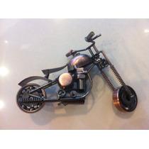 Moto Harley Davison Ferro Decoração Enfeite De Mesa Estante