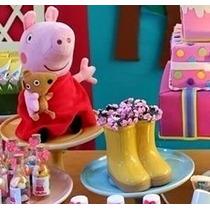 Galocha De Cerâmica/ Festa Peppa Pig/ Decoração/ Botinha