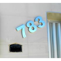 Numero Aço Inox 304 Espelhado Polido Residencial, Casa 10cm