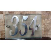 Placa De Vidro Com Números De Casa.