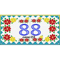 Números De Casa Em Azulejo Tamanho 15 X 30 Cm R$45,40