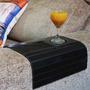Kit 02 Esteiras Flexível Porta Copos Em Mdf Luxo- Preto