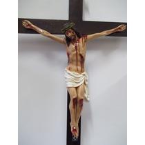 Crucifixo P/ Oratório - Cristo Resina 60cm / Cruz 120cm
