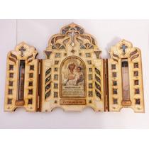 Oratorio De Madeira Maria E Jesus Importado Da Terra Santa