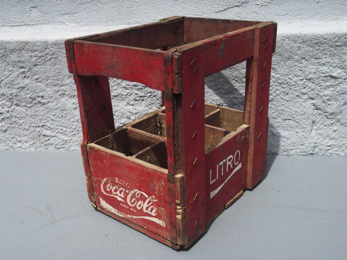 Engradado Antigo Coca Cola Caixa Madeira R$ 190 00 no MercadoLivre #73322F 1200x900