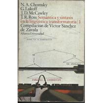 Semantica Y Sintaxis En La Linguistica Transformatoria 1 E 2