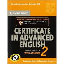 Certificate In Advanced English Of Cambridge + Aúdios - Cae