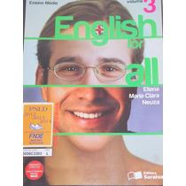 Lote Com 3 Volumes - English For All - 1, 2 E 3