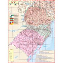 Mapa Geopolítico Gigante Da Região Sul Do Brasil - Geografia