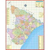 Mapa Geo Político Rodoviário Estado De Sergipe 1,20 X 0,90m