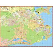 Mapa Gigante Da Cidade Município Do Rio De Janeiro - Turismo