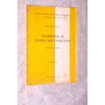 Elementos De Teoria Dos Conjuntos Benedito Castrucci 1967
