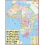 Mapa Gigante Da África Continente Africano Tam. 1,20 X 0,90m
