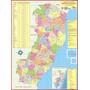 Mapa Geo Político E Rodoviário Gigante Estado Espírito Santo
