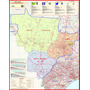 Mapa Da Região Centro-oeste Do Brasil - Gigante 89 X 112 Cm