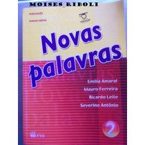 Livro Novas Palavras Português Ensino Médio Professor Vv