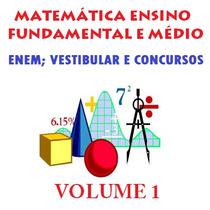 Matemática Ensino Fundamental E Médio Para Concurso Em Dvd