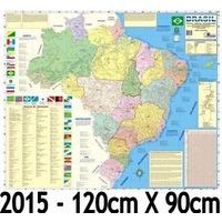 Mapa Brasil Politico Regional Rodoviário 2014 - 120cm X 90cm