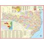 Mapa Do Estado De Santa Catarina -- Político - 117 X 89 Cm