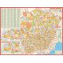 Mapa Do Estado De Minas Gerais --- Político - 117 X 89 Cm