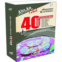 Aulão 40 Dvds + Livro Ensino Médio Vestibular Enem Concursos