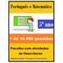 Pacotão C/ Descritores De Português E Matemática - 4º 5º Ano