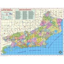 Mapa Geo Político Rodoviário Do Estado Do Rio De Janeiro