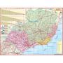 Mapa Político Rodoviário Gigante Da Região Sudeste Do Brasil