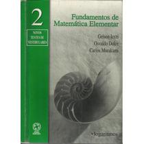Fundamentos De Matemática Elementar - 2 - Frete Gratis