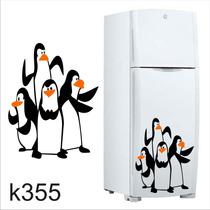 Adesivo K355 Adesivo Pinguim Geladeira Pinguins Madagascar