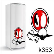Adesivo K353 Adesivo Pinguim De Geladeira Pinguim Bêbado