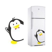 Adesivo Decorativo De Geladeira Pinguim Cozinha Freezer Box