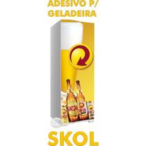 Kit Adesivo Envelopamento Skin Geladeira Cerveja Skol
