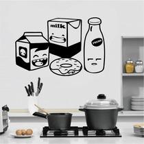 Adesivo Decorativo Parede Cozinha Geladeira Caixa Leite Milk