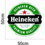 Adesivo Logo Heineken 50cm X 50cm P/geladeira Parede